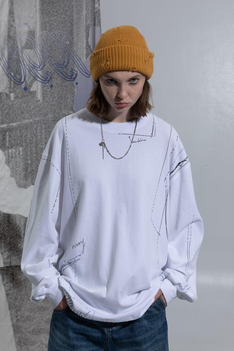 BLIND Drawing Pattern L/S Tee