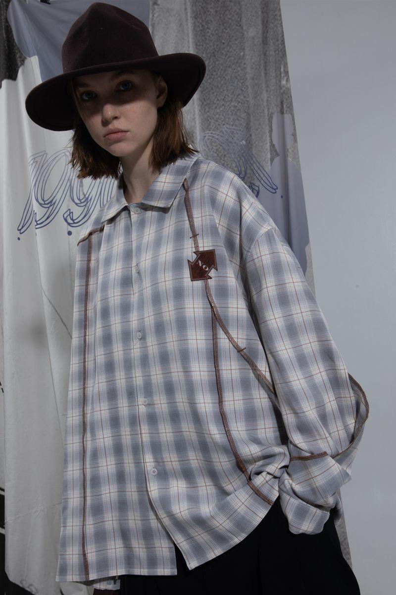 BLIND Checkered Stitched L/S Shirt