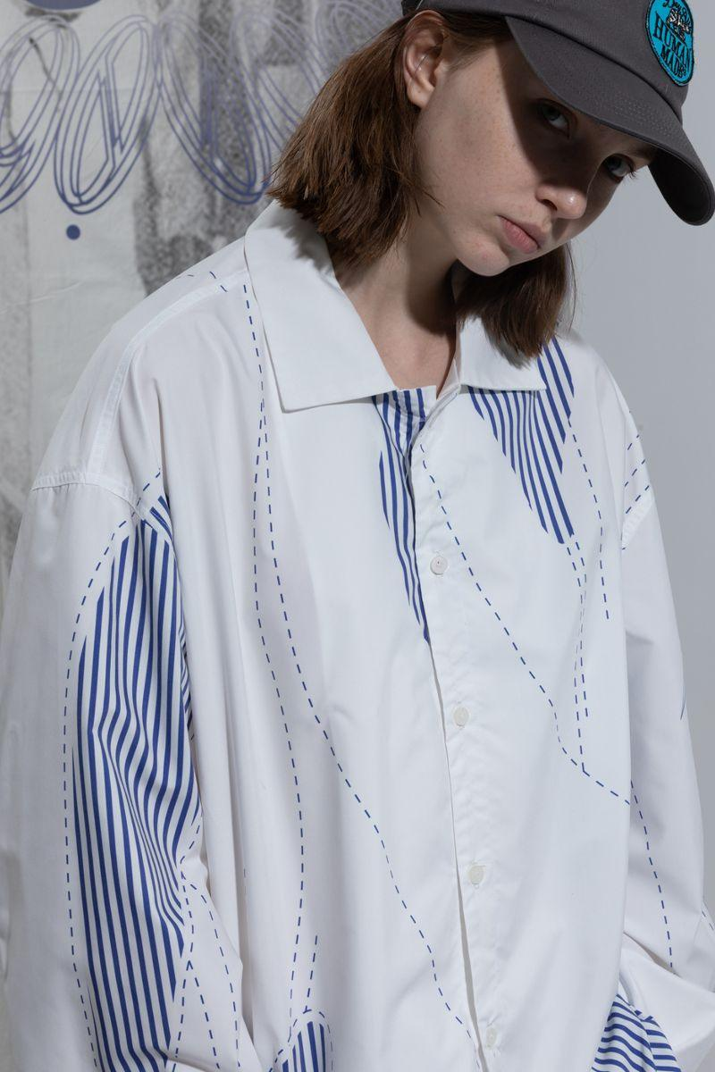 BLIND Lines Striped L/S Shirt