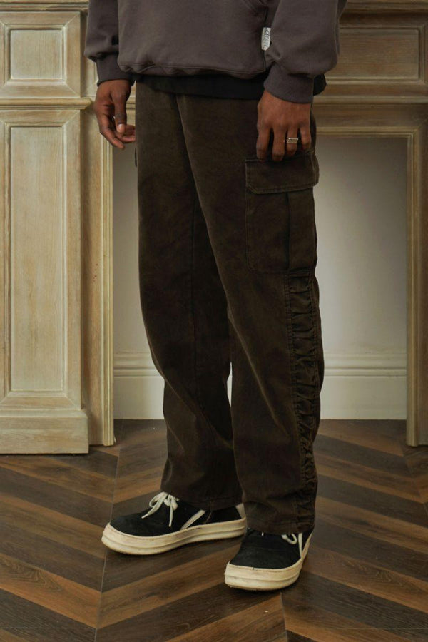Empty Reference Pleated Straight Trousers