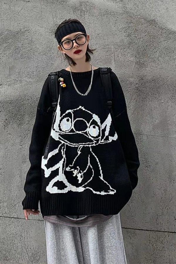 CZ Retro Alien Knit Sweater