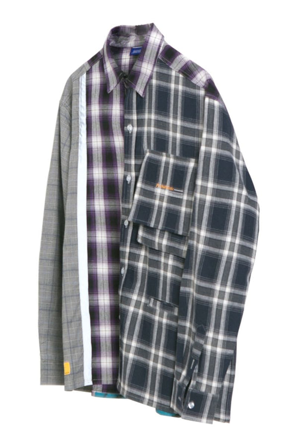 Observer Lab Checkered Stitching L/S Shirt