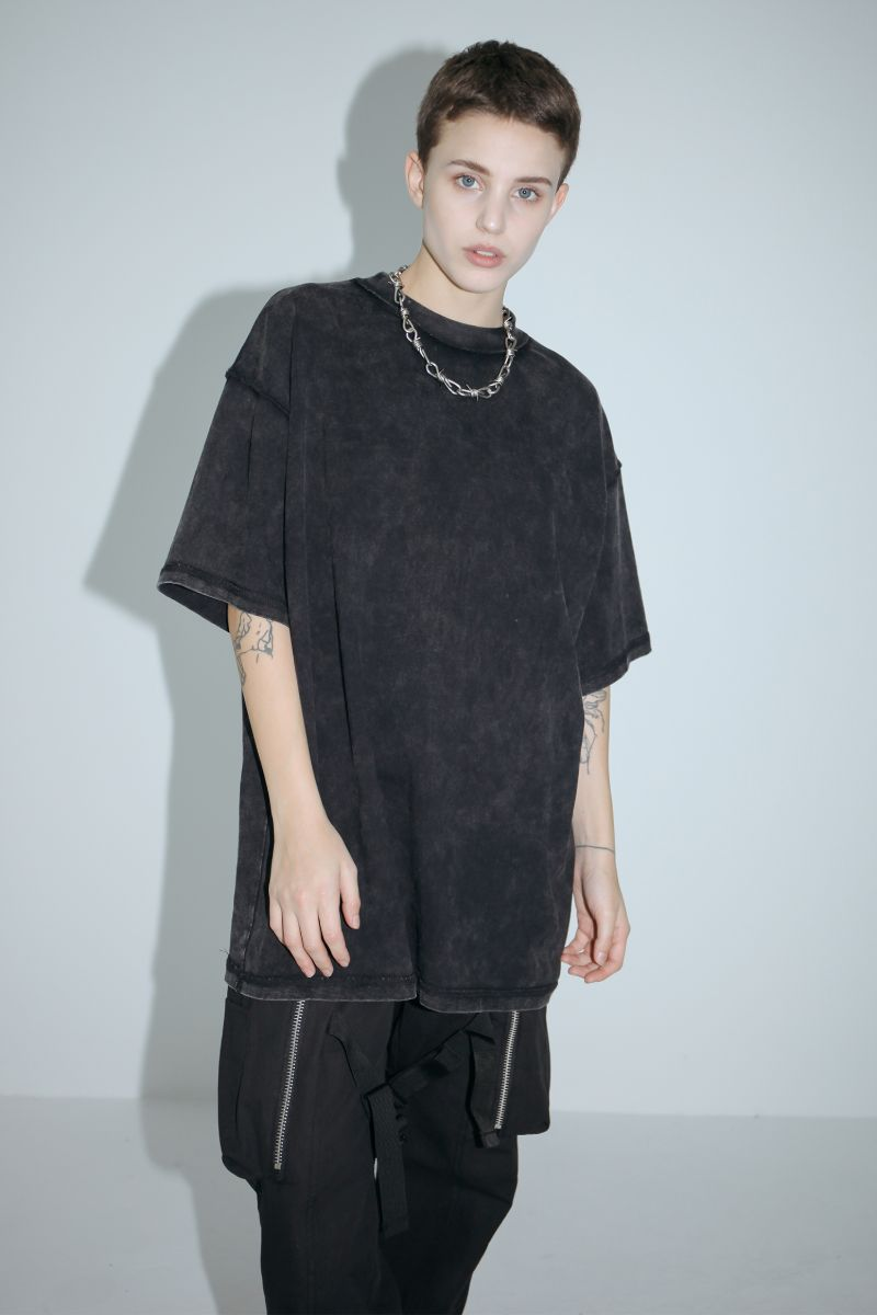 Unknown World Old Black Washed Tee