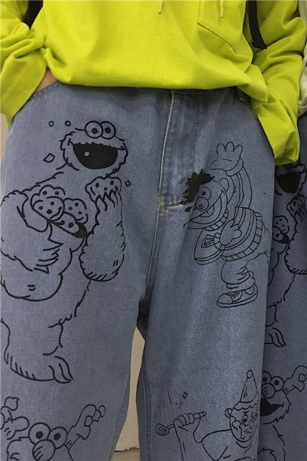 CZ Muppets Painted Cropped Denim
