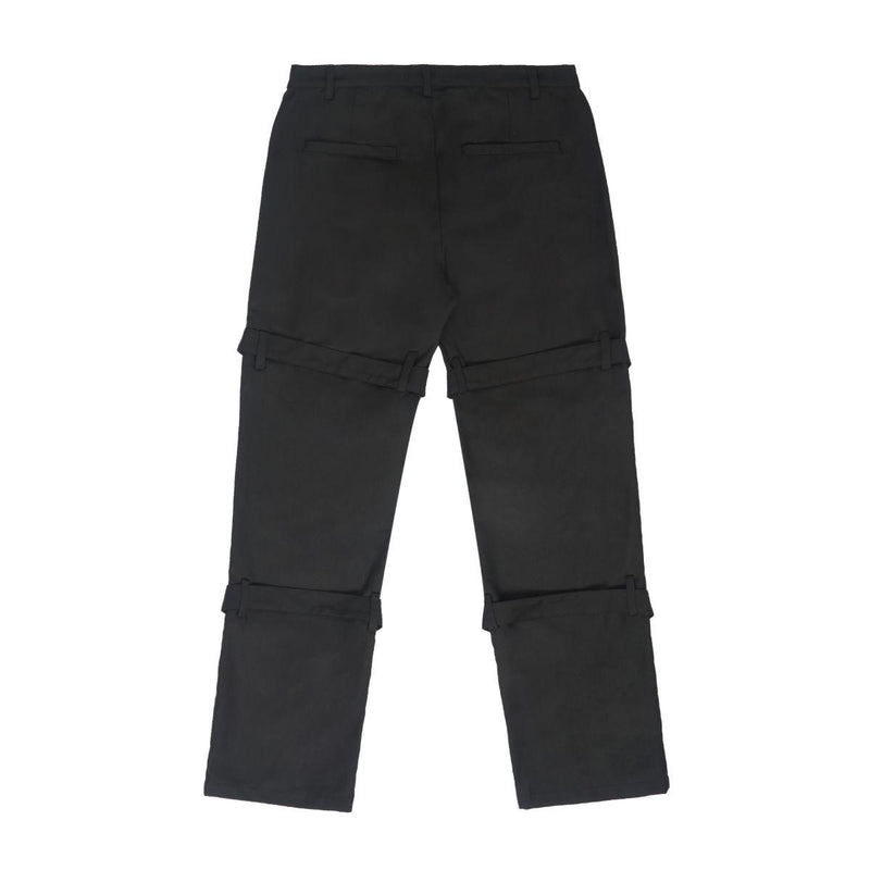 Empty Reference Black Straps Straight Trousers