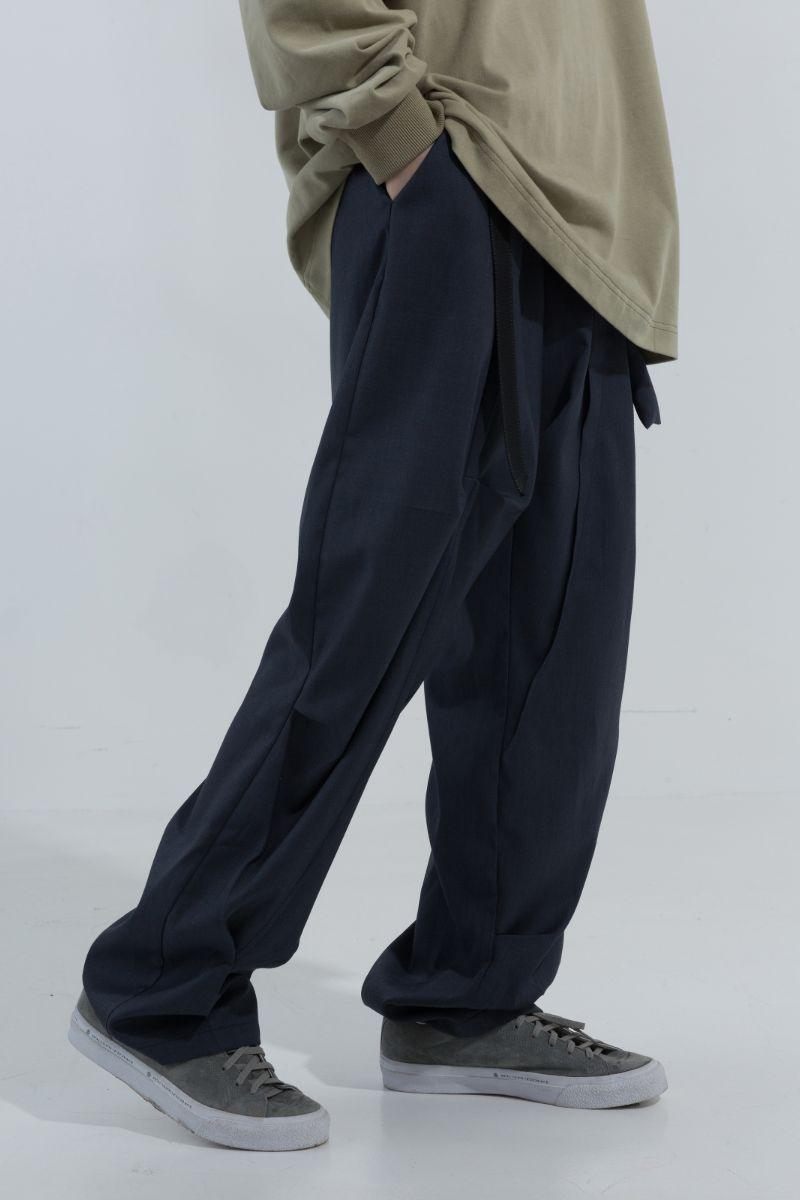 BLIND Retro Straight Suit Trousers
