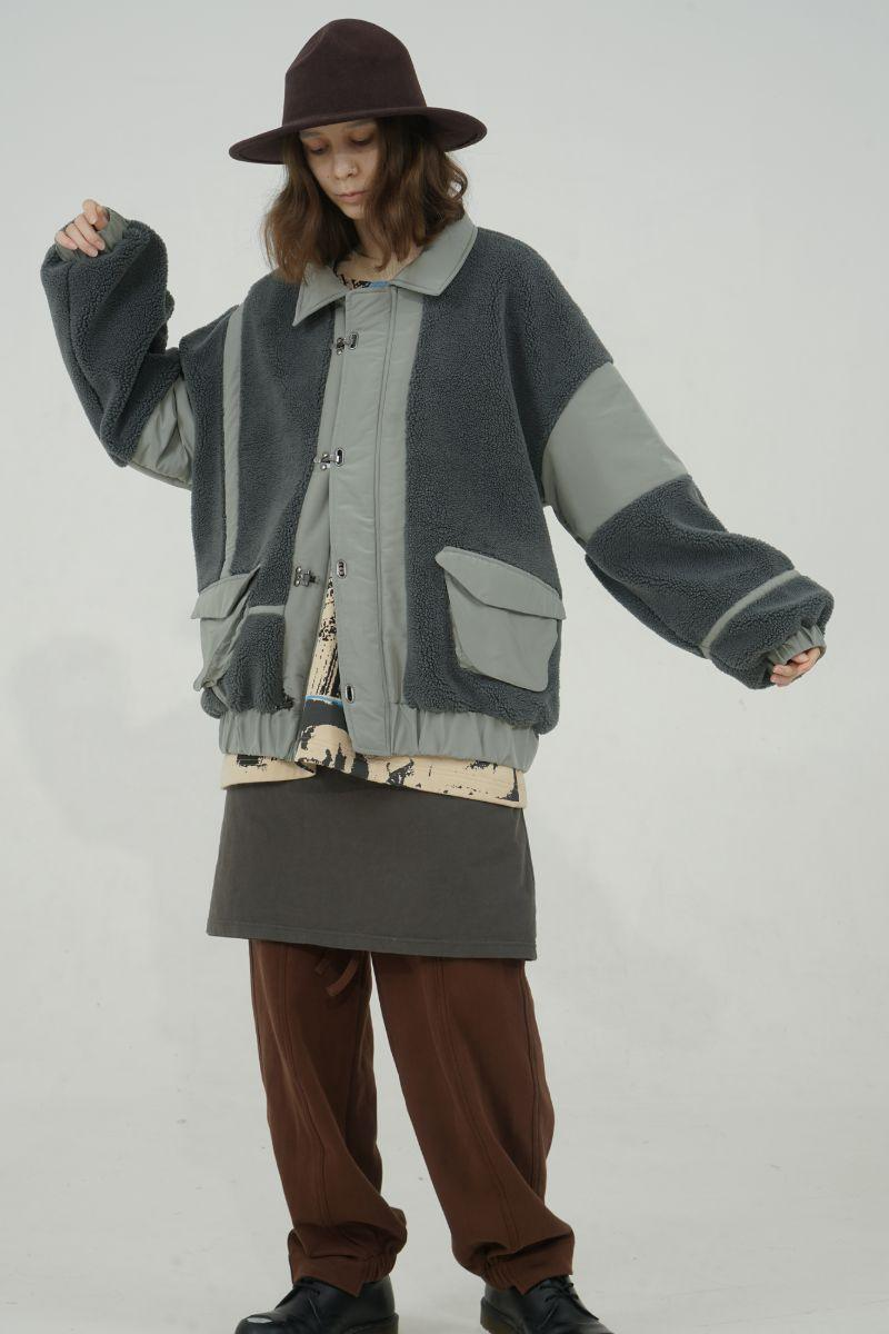 BLIND Retro Colorblock Sherpa Jacket