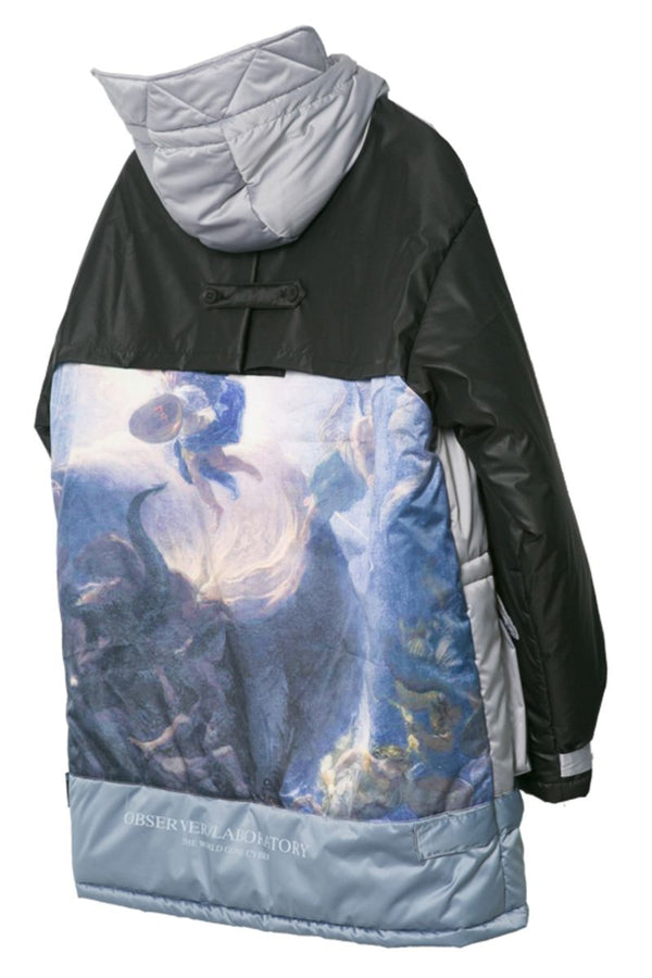 Observer Lab Religious Painting Thermal Long Jacket