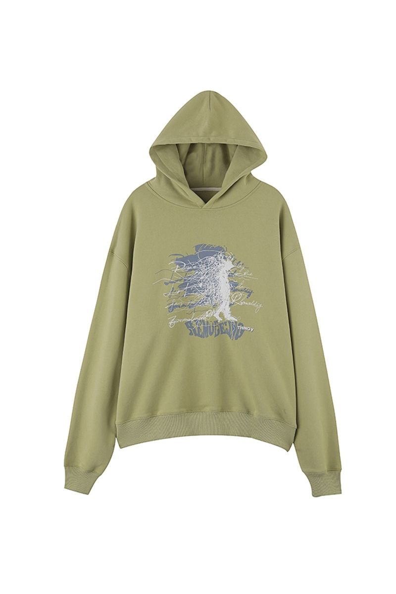 THINGY Graffiti Washed Lemon Hoodie