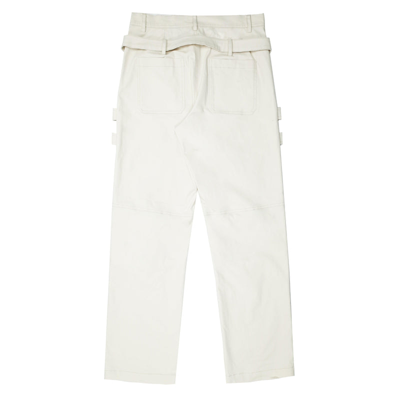 Empty Reference Milky Structure Trousers
