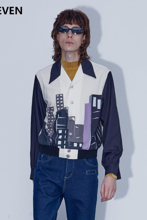 Mix7 Geometric Architectural L/S Shirt