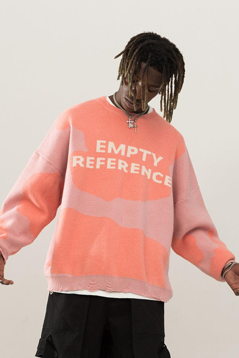 Empty Reference Logo Cashmere Sweater