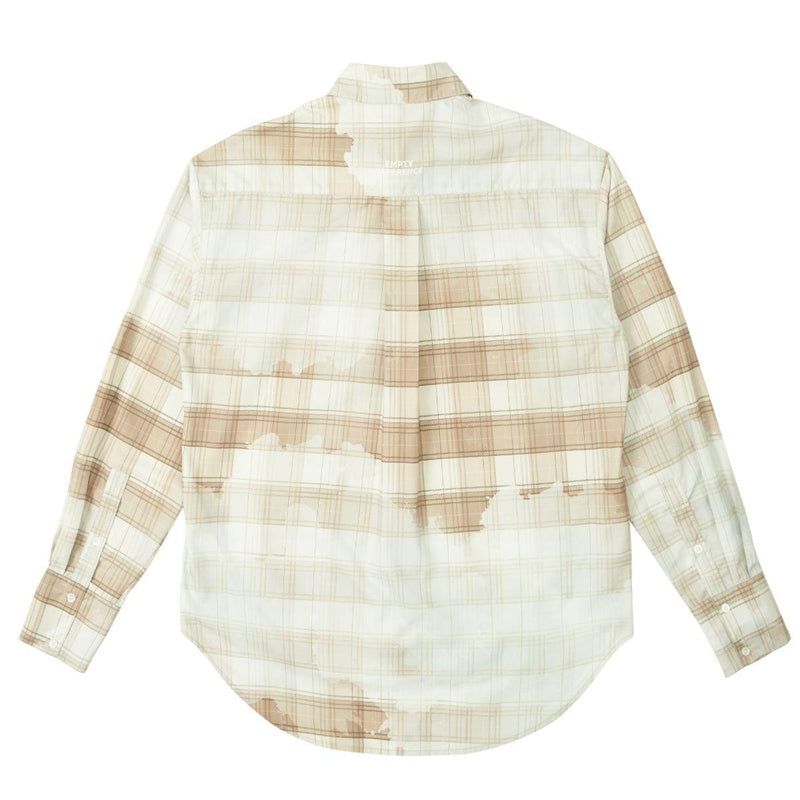 Empty Reference Faded Plaid Long Sleeve Shirt