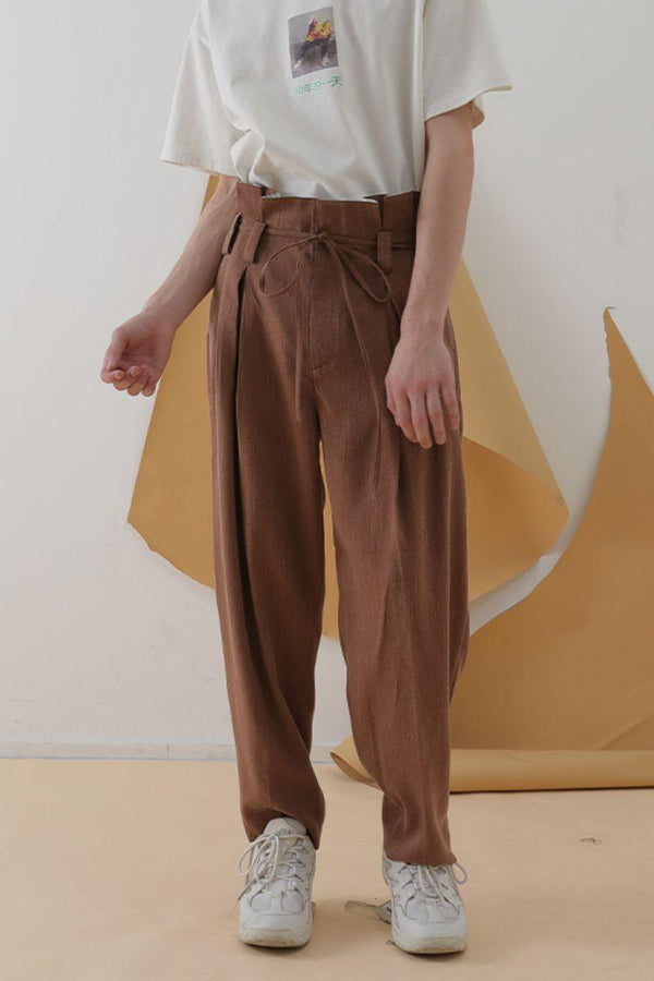 Mix7 Brick Red Straight Trousers