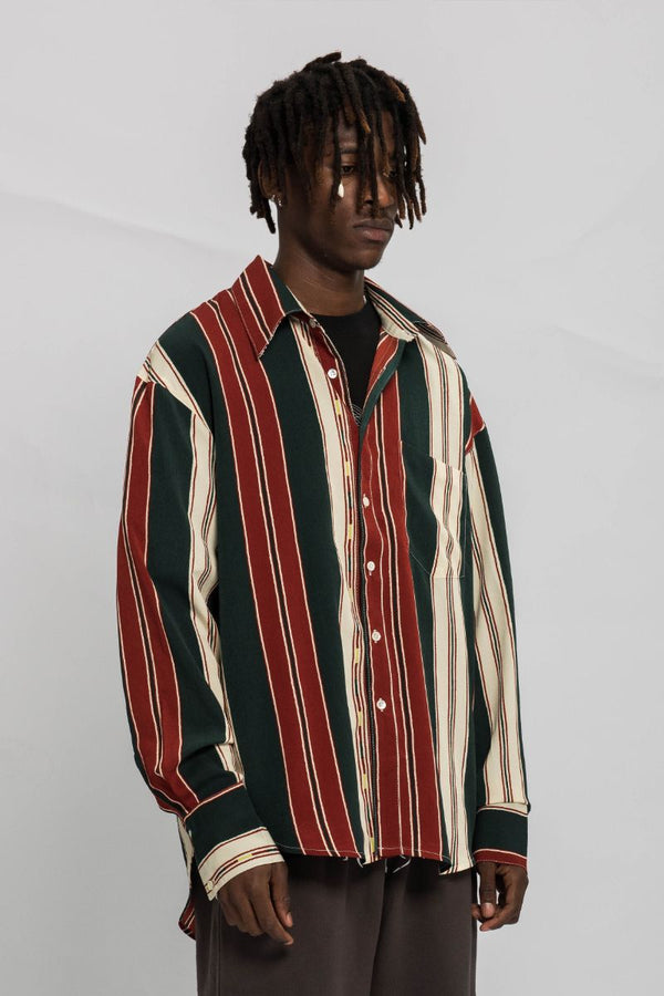 Empty Reference Striped L/S Shirt