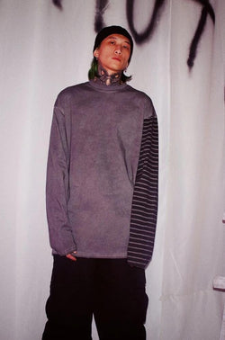CZ Striped Old Washed L/S Tee