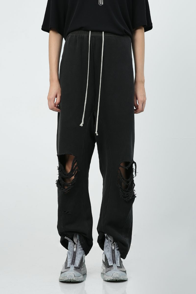 Unknown World Distressed Loose Sweatpants