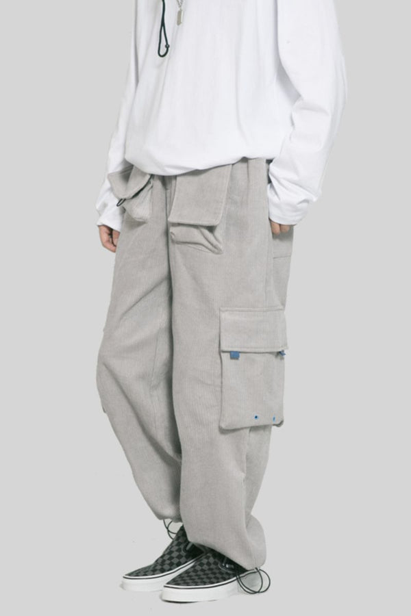 Observer Lab Corduroy Loose Cargo Pants