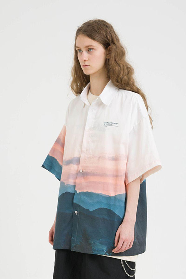 Center of Rotation Sunset Printed S/S Shirt