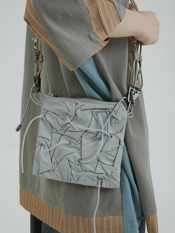 BLIND Retro Futuristic Drawstrings Shoulder Bag
