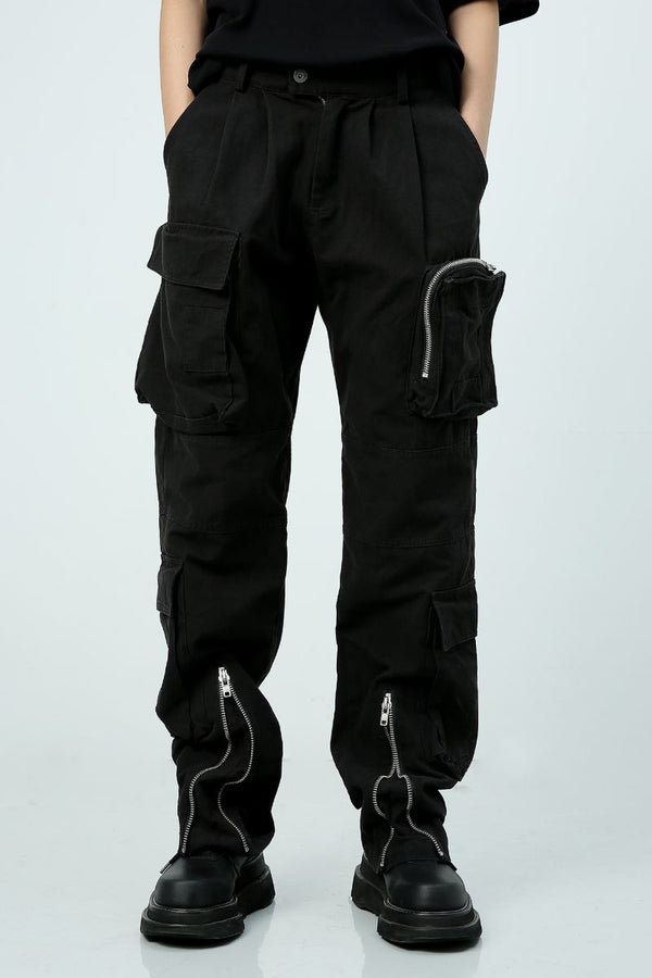 Unknown World Multi Zip Pocket Cargo Trousers
