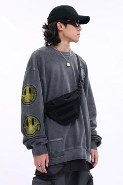 CZ Smile Washed Sweater