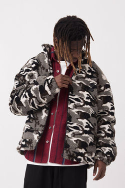 Empty Reference Camouflage Sherpa Jacket