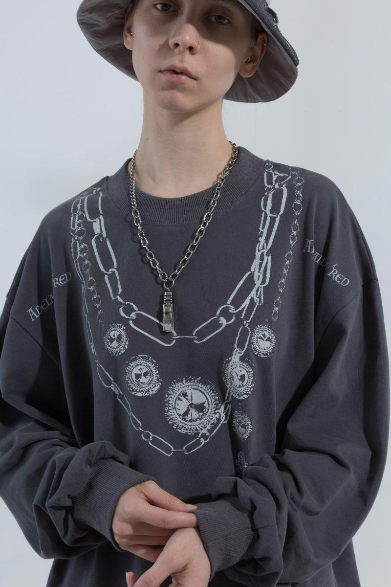BLIND Printed Necklace Retro Sweater