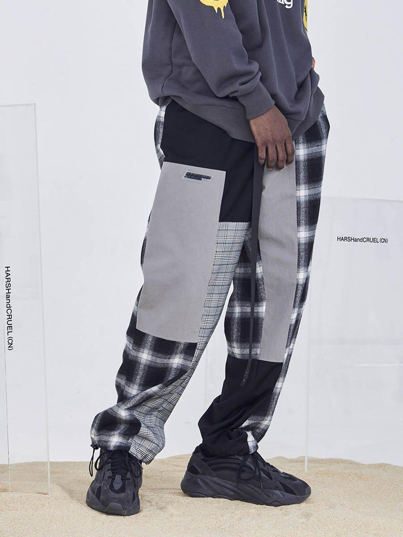H/C Plaid Colorblock Pants