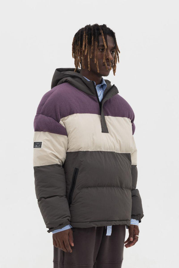 Empty Reference Colorblock Down Jacket