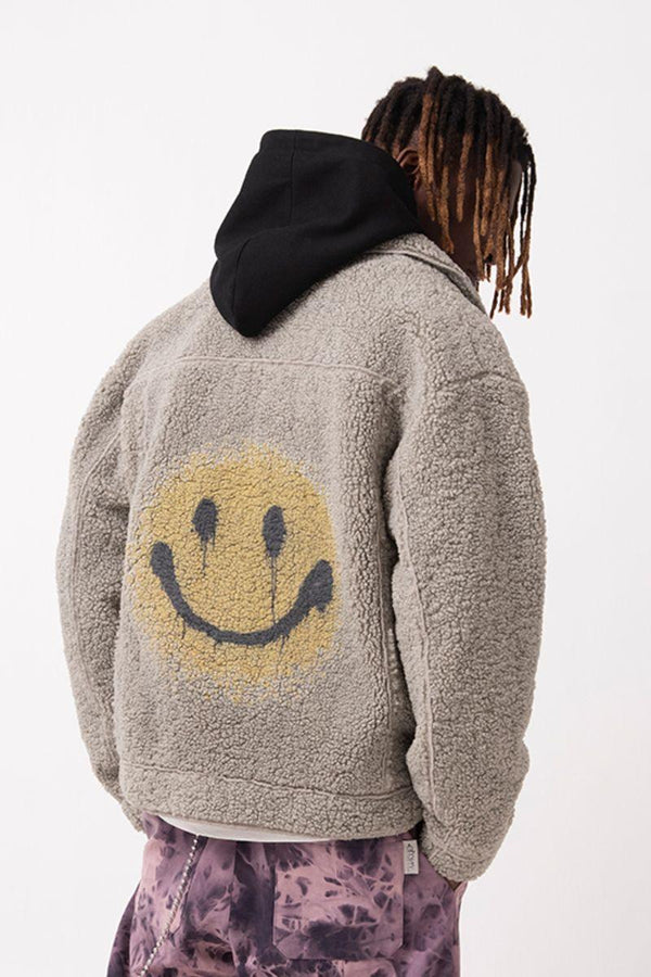 Empty Reference Smiley Sherpa Jacket