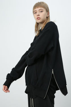 Unknown World Oversized Zipper Sweater