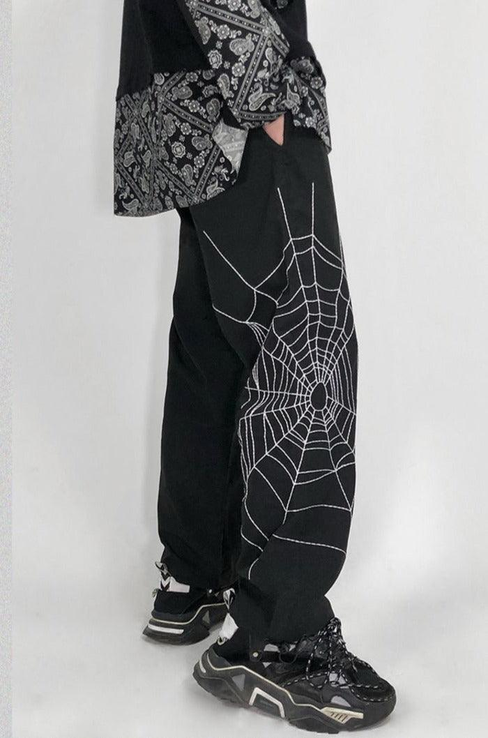 CZ ED Embroidered Spider Web Trousers