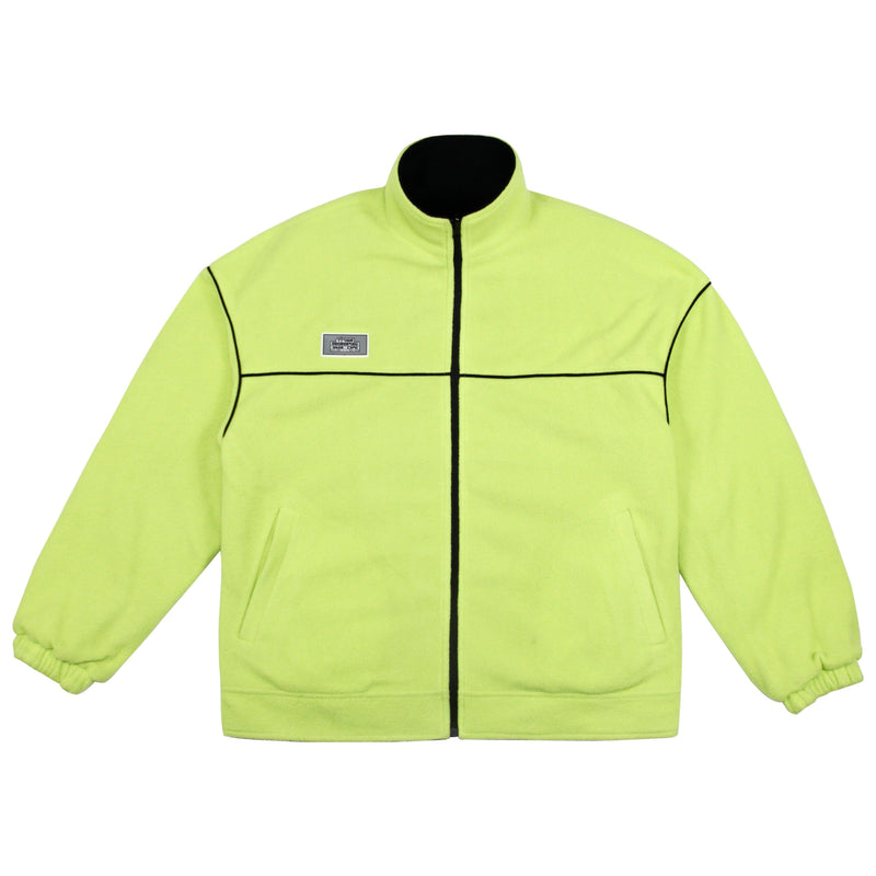Empty Reference Reversible Black and Green Fleece Jacket