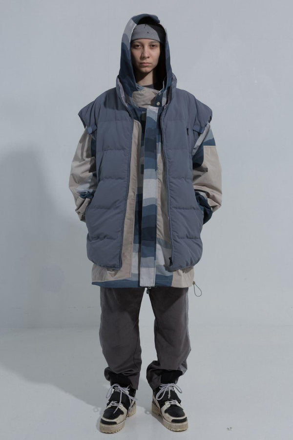 BLIND Detachable Two Pieces Down Jacket