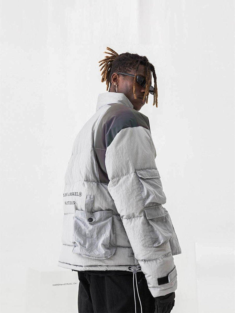 H/C Metal Rainbow Reflective Down Jacket