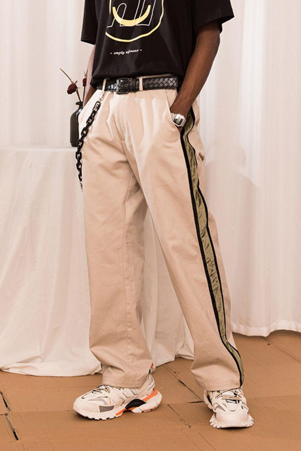Empty Reference Khaki Velvet Track Trousers