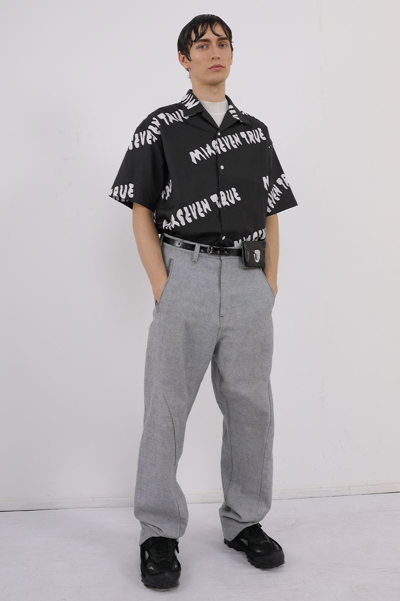 Mix7 Logo Printed Cuban S/S Shirt