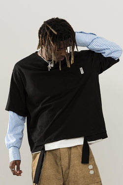 Empty Reference Stitched Shirt Sweater