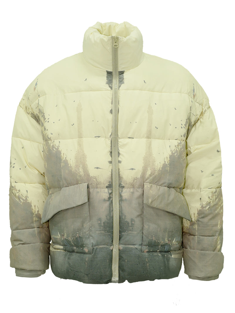 Unknown World Ink Spray Down Jacket