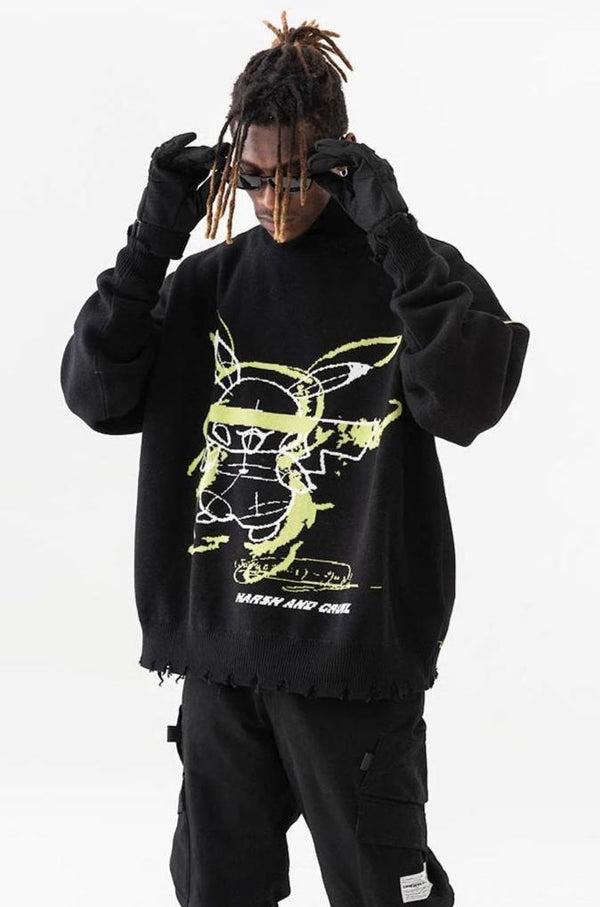 H/C Pika Ripped Turtleneck