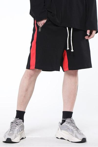 CZ Black & Red Track Shorts