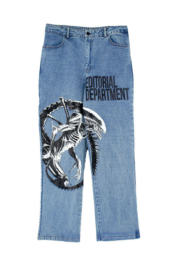 CZ Alien Printed Denim