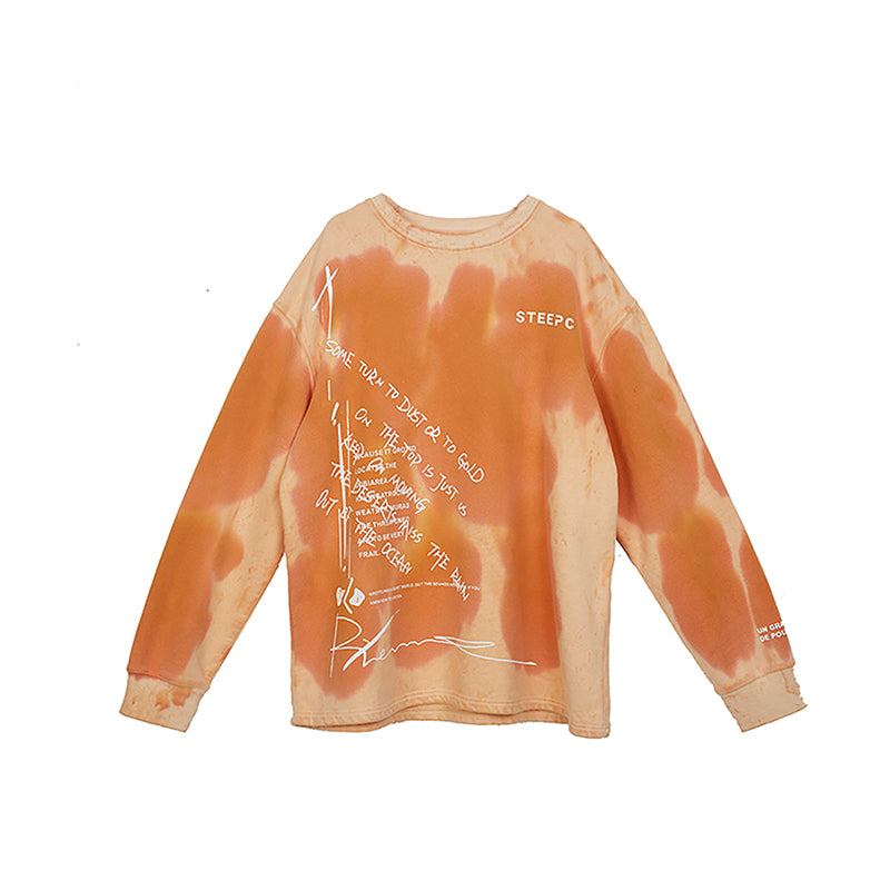 STEEPC Logo Graffiti Washed Sweater