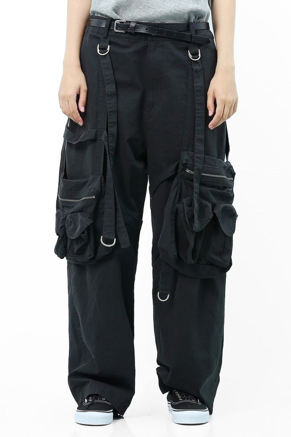 Unknown World Washed Old Removable Pocket Trousers