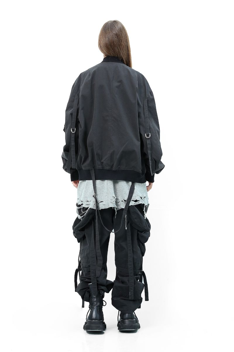 Unknown World MA1 Straps Bomber Jacket