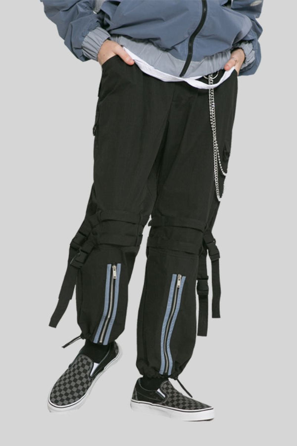 Observer Lab Straps Zipper Nylon Pants