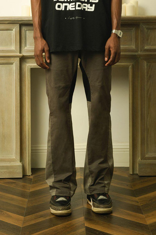Empty Reference Stitched Flared Trousers