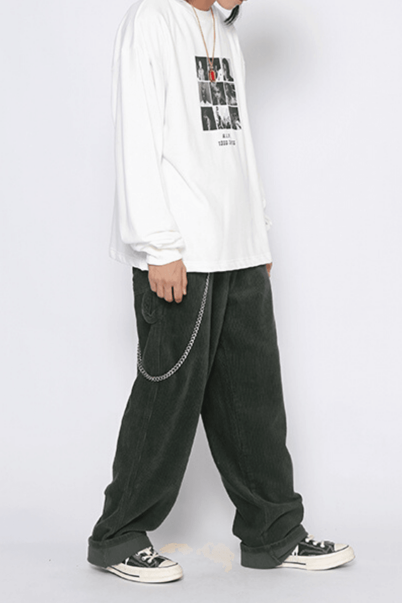 CZ Corduroy Loose Trousers