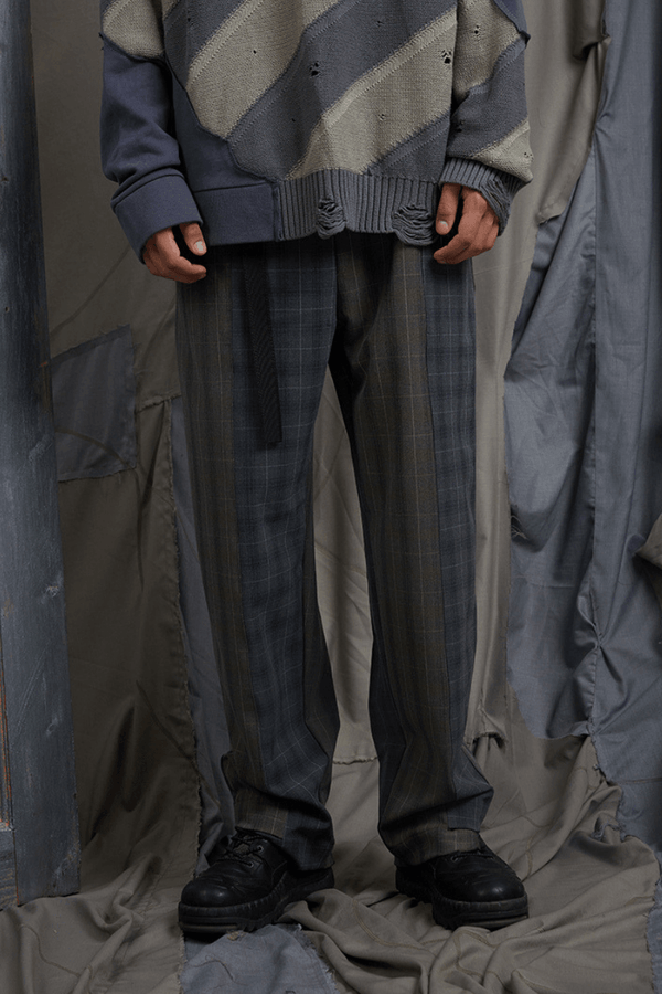 BLIND Plaid Straight Trousers